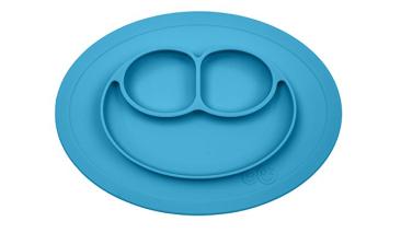 Prato de silicone com divisórias